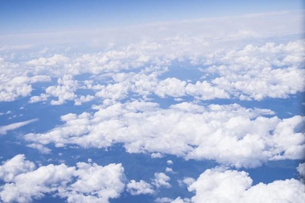 ANA機体から見た空