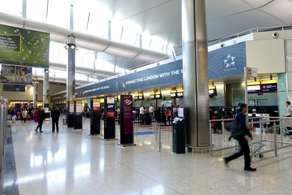 ヒースロー空港ターミナル2 ルフトハンザドイツ航空カウンター