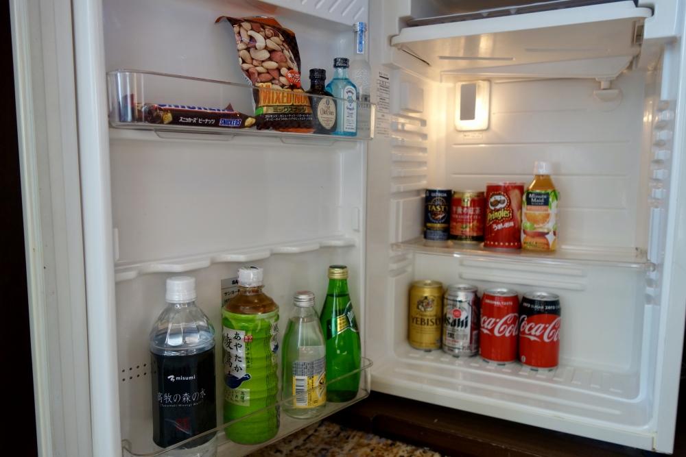 ヒルトン福岡 パノラミックスイート 冷蔵庫の中