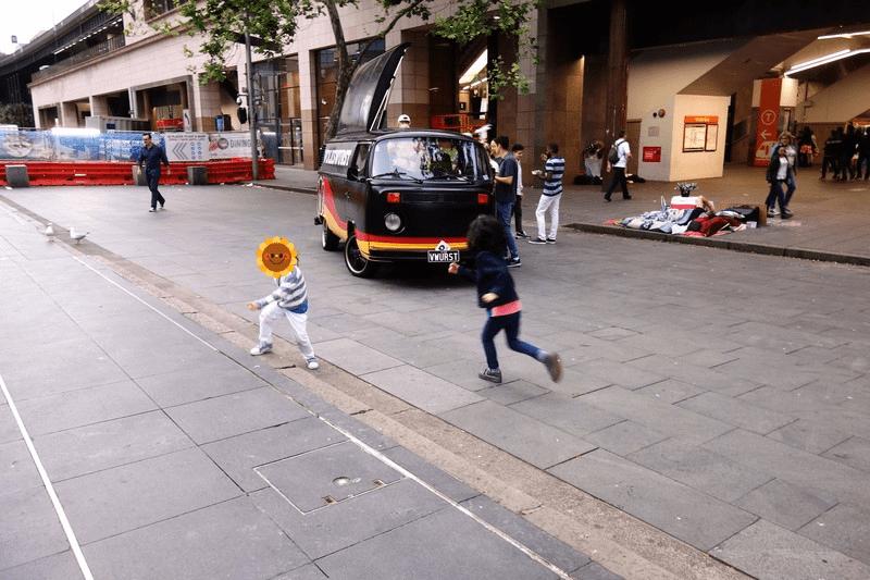シドニー サーキュラーキーで鬼ごっこ