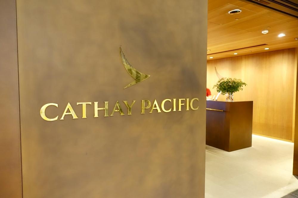 羽田空港国際線ターミナル キャセイパシフィック航空ラウンジの入口