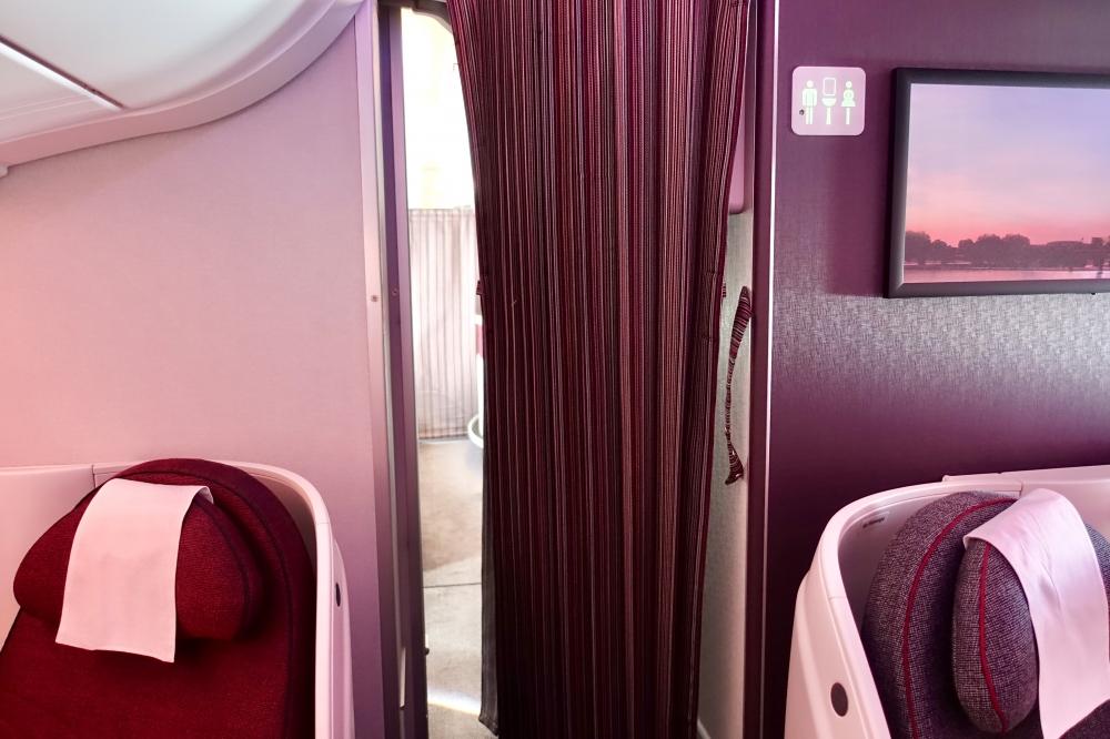 カタール航空A380のバースペースはビジネスクラス後方