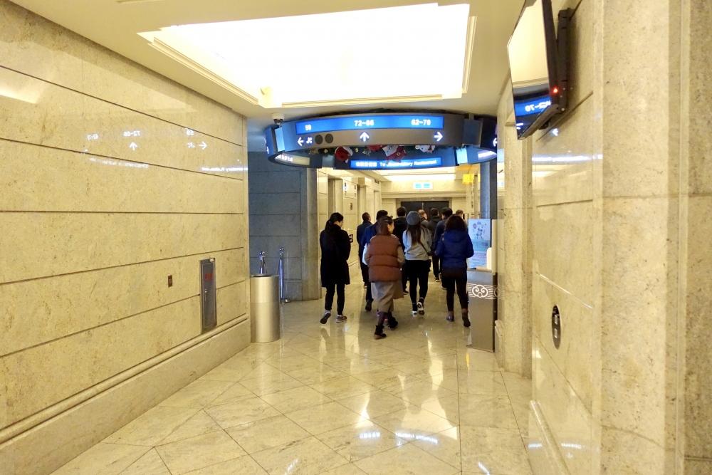 台北101 欣葉食藝軒へは60階でエレベーターを乗り換え