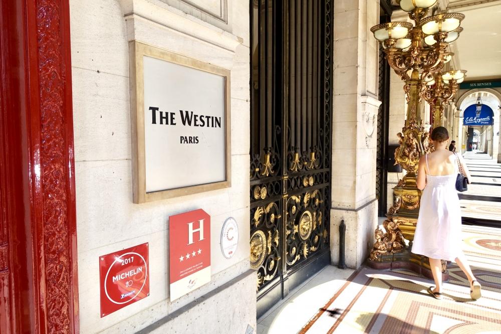 ザ・ウェスティンパリのエントランス