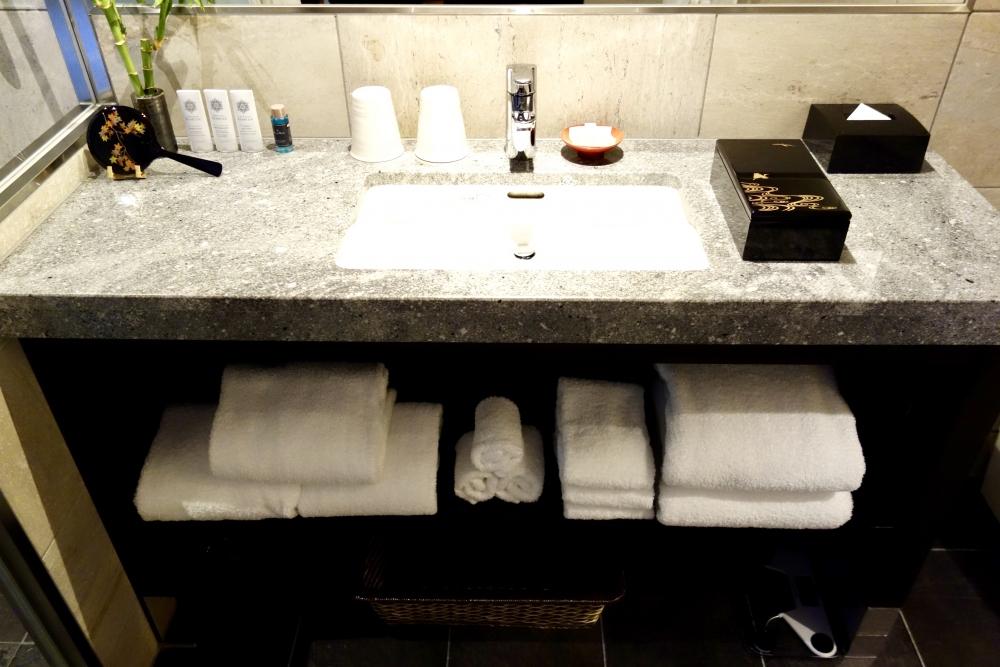 翠嵐ラグジュアリーコレクションホテル京都柚葉洗面台