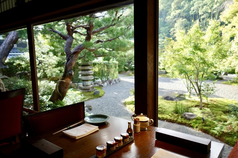 翠嵐ラグジュアリーコレクションホテル京都京翠嵐からの景色