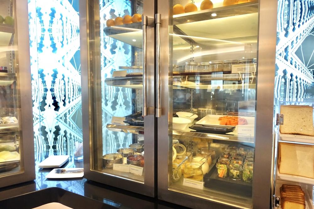 ル・メリディアンクアラルンプールクラブラウンジ朝食(冷蔵庫)