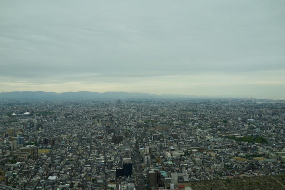 大阪マリオット都ホテルデラックスツインからの眺めv
