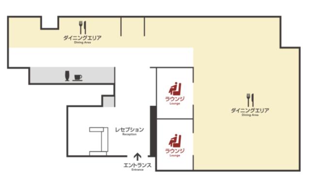 松山空港サクララウンジフロアマップ