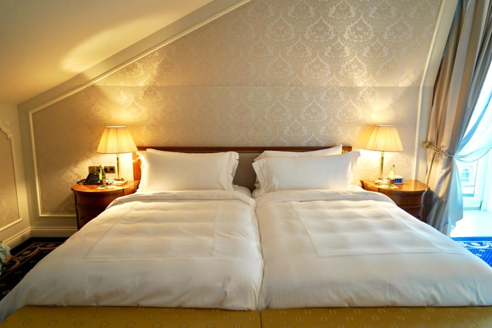 ホテルインペリアルウィーン・エグゼクティブジュニアスイート・ベッド