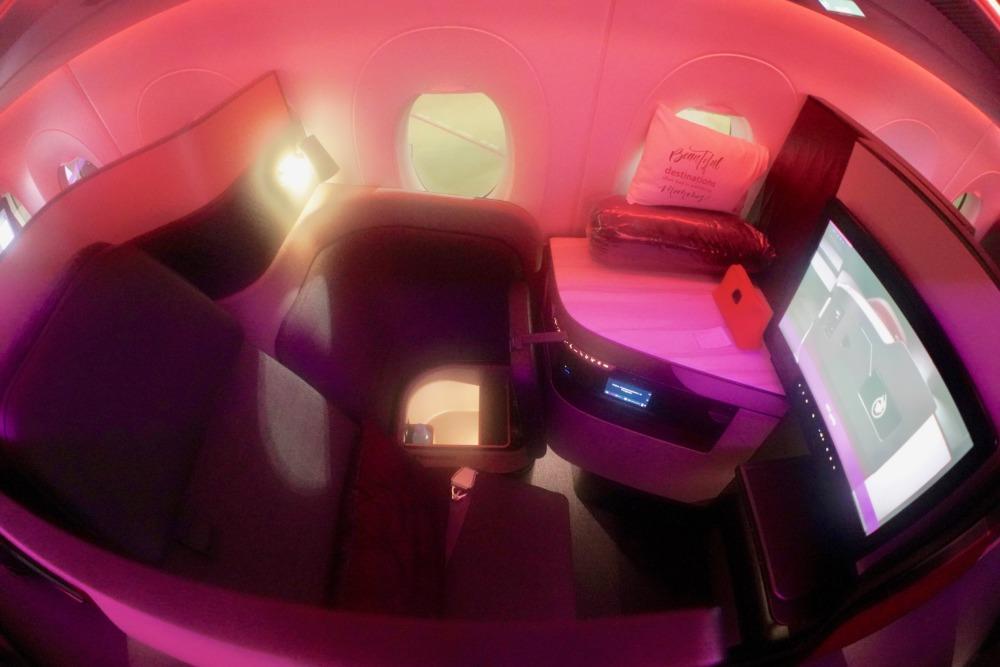 カタール航空Qスイート搭乗記・A380Qsuiteのシート