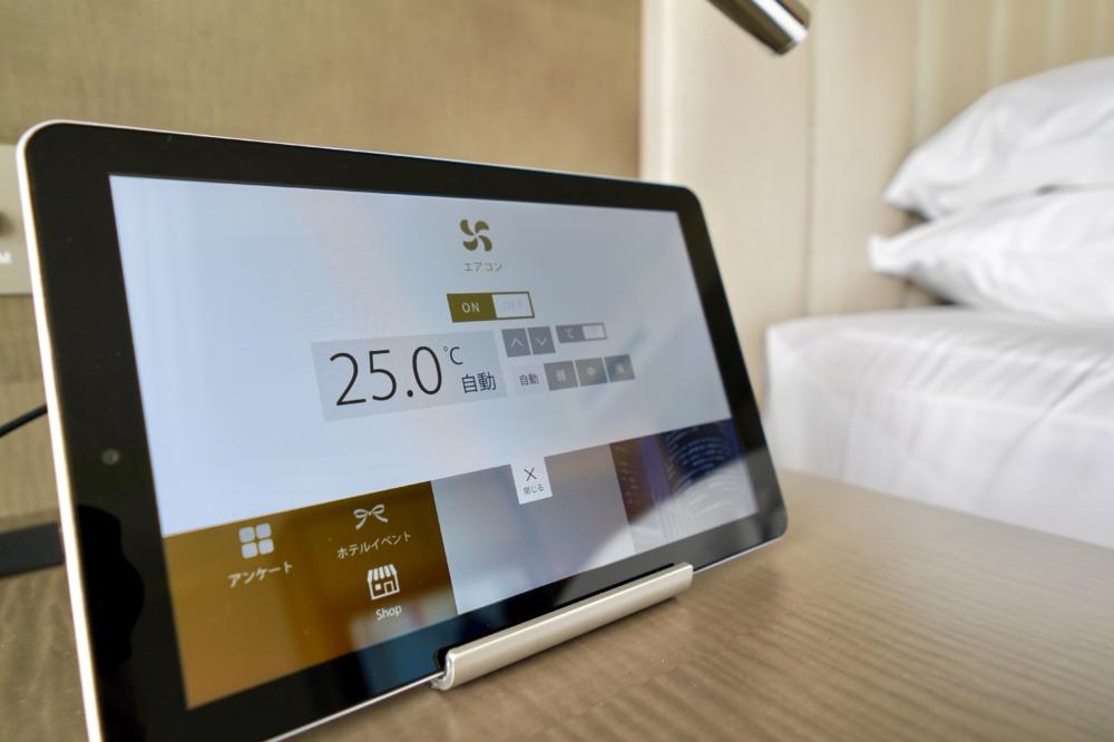 名古屋マリオットアソシアホテルの2910号室iPad