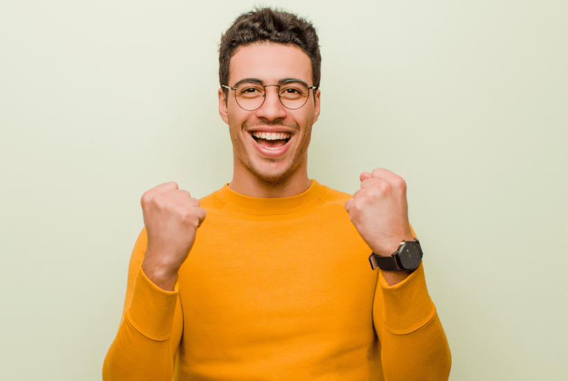 man is excited to talk about adverb clauses of time