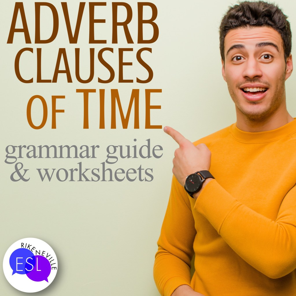 man happily points out time clauses