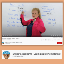 A screenshot of a YouTube video to use with plural noun activities