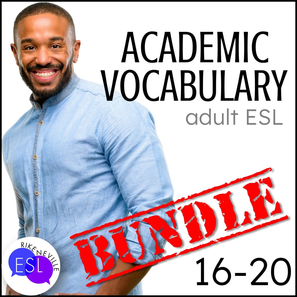 Teach academic vocabulary with bundle 4