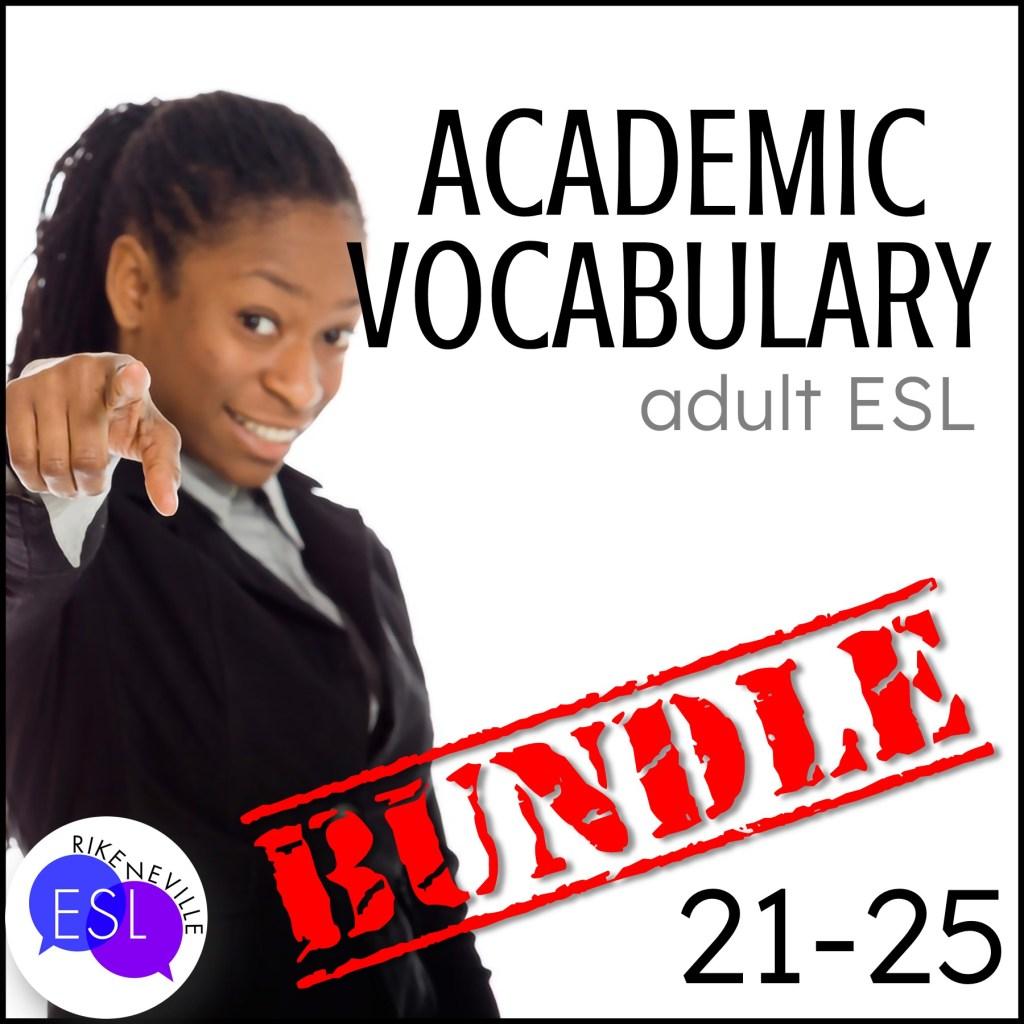 Teach academic vocabulary with bundle 5