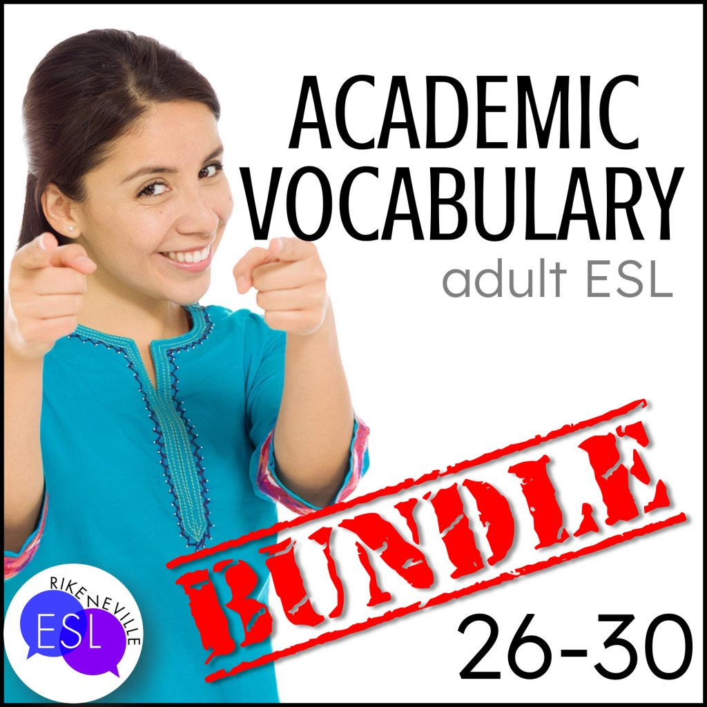 Teach academic vocabulary with bundle 6