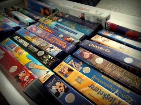 VHS bånd nostalgi vhsafspiller