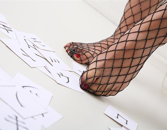 Fishnet Foot Fetish!