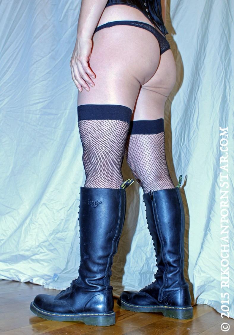 Rikochan's butt and boots.