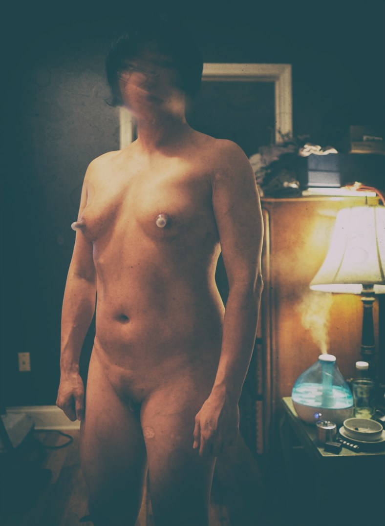 Rikochan nude full body face shot