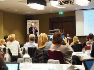 Kjell Atle Halvorsen taler på konferansen Change1 i London 22 januar 2016