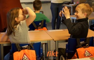 Samarbeidet mellom elevene blir naturlig og morsomt!