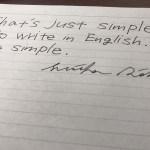 最もシンプルな英文の書き方。
