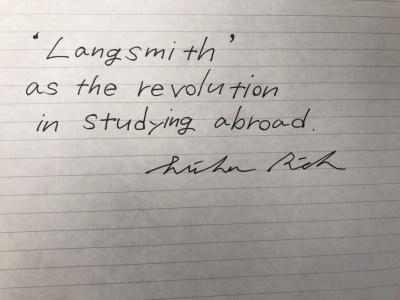 Langsmithは海外留学に革命を起こせるか。