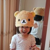 rilakkuma plush hat little girl