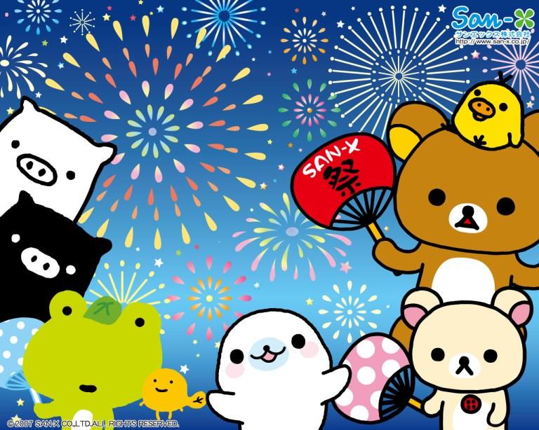 rilakkuma fireworks new year