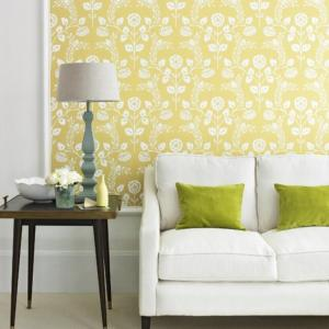 living yellow wall cozy chartreuse designs decor modern ideal spaces housetohome rilane inspirations apartment framed decoration source feature bright