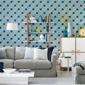 living eclectic decorating paper designs modern interior grey patterned decor circles housetohome ideal yes please rilane designer idea