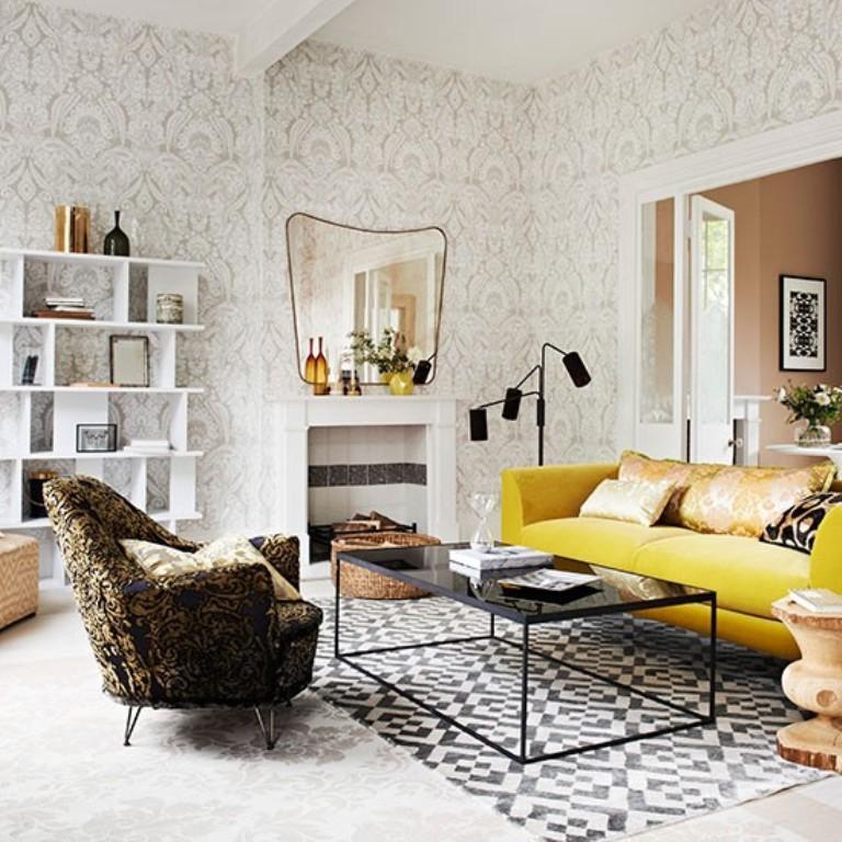 awesome living room wallpaper leather sofas 20 sumptomous designs rilane elegant design