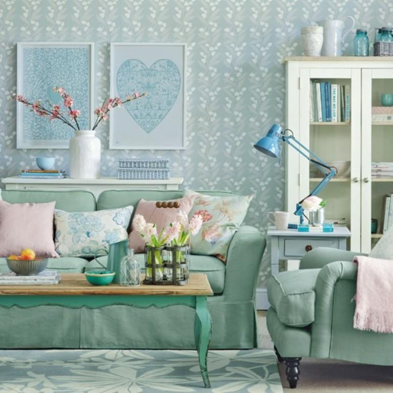best wallpaper for small living room ceiling light 20 sumptomous designs rilane feminine patel blue design