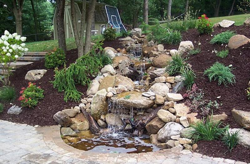 Relaxing Backyard Waterfalls Ideas Rilane