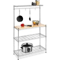 Bakers Racks For Kitchen Stainless Trash Can 10 Useful Rack Design Ideas Rilane Chrome Metal