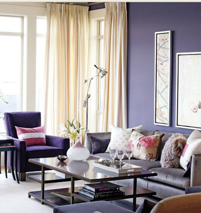dark purple living room ideas slipcovers 20 dazzling designs rilane distressed