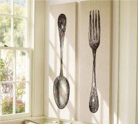 10 Fun Spoon and fork wall decor for creative Kitchen - Rilane