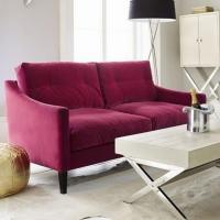 Pink Velvet Sofa Trend Pink Velvet Sofa 83 With Additional ...