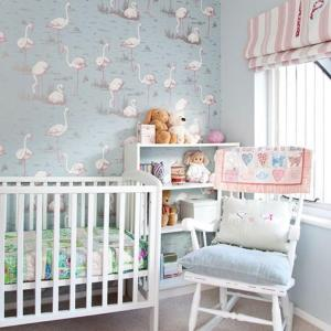 pink bedroom nursery decorating childrens designs housetohome flamingo neutral duck egg wall pretty grey paper decor pastel kinderzimmer living bebe