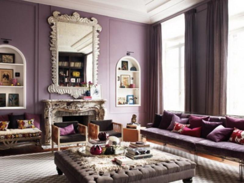 purple living room furniture sofas pictures of hardwood floors in rooms 20 dazzling designs rilane chic light
