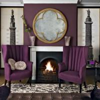 20 Dazzling Purple Living Room Designs - Rilane
