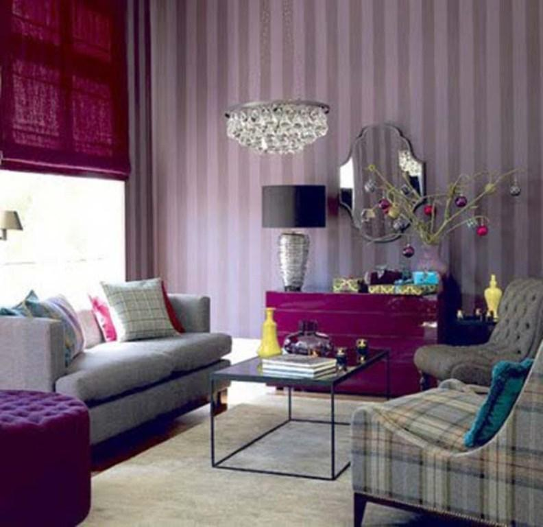 purple living rooms room design with dark wood floor 20 dazzling designs rilane striped