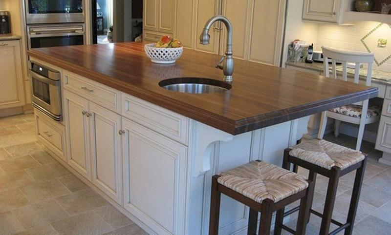 kitchen island with sink cheapest place to buy cabinets multifunctional islands rilane walnut round
