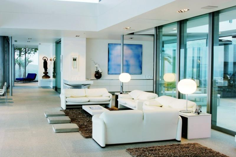 simple clean living room design circular sofas furniture 10 cool aquatic themed rooms rilane sleek and