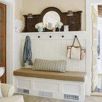 10 Organized Hallways with Beautiful Coat Rack Bench - Rilane