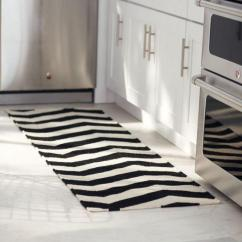 Modern Kitchen Rugs Macy Table Sets 10 Area Ideas Rilane Black And White Striped Rug