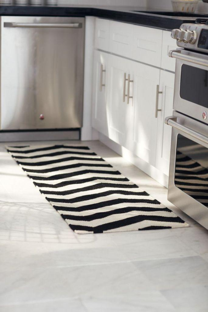 modern kitchen rugs faucet reviews 10 area ideas rilane black and white striped rug